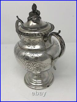 Rare Large Barker Ellis Silver Plate Complete Tea Coffee 6 piece Set III 1930s