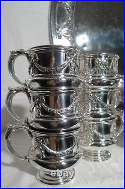 Reed & Barton Neoclassic Style Silver Plate/Gilt Punch Set 17 Pieces, ca 1878