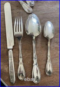 Rogers La Vigne Silver Plate Cutlery Set Of 6 Place Settings 24 Piece GRAPE VINE