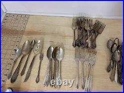Rogers & Oneida Silver-plate Silverware Flatware Set (125) Pieces Mix & Match