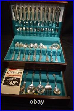 Servace for 12 EVENING STAR Silverplate Community Flatware 78 pieces
