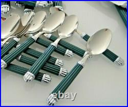 Set 48 pieces Christofle Aria Acier Green