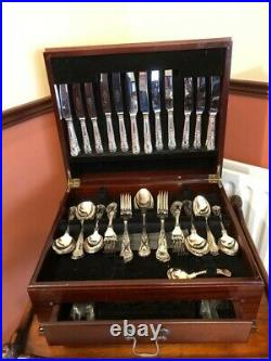 Sheffield Stainless Steel Epns Cutlery Canteen In Original Box 92 pieces