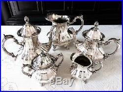 Silver Plate Coffee Tea Service Set Towle Grand Duchess 5 Piece Set