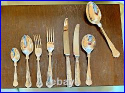 Silver Plated 44 Piece Kings Pattern Canteen of Cutlery OSBORNE SHEFFIELD