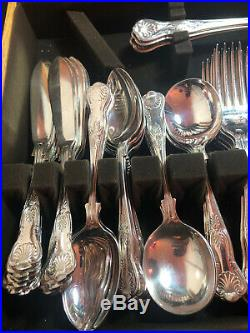 Silver Plated Kings Pattern Cutlery Set Of 112 Pieces -12 Setting