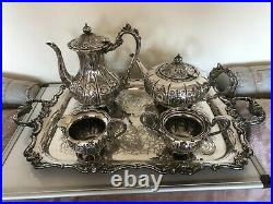 Stunning 5 Piece Victorian Chased Tea/coffee Service Complete With Tray