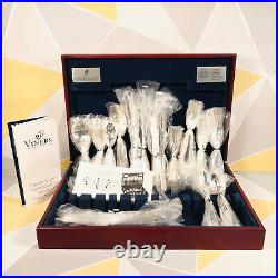 Stunning Viners Silver Plated 100 Piece 8 people Cutlery Set Tudor Canteen Boxed