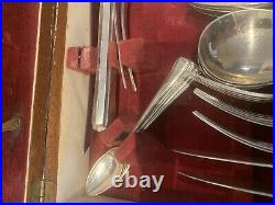 Superb Art Deco Boxed Silver Plate 67 Piece Canteen of Cutlery