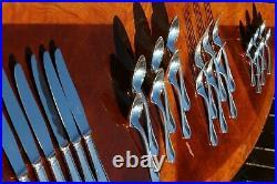 Superb Christofle Spatours Silver Plated 24 Pieces Flatware Set for Six