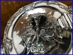 Superb Old Sheffield plate 3 piece tea set with silver finial Sheffield 1841