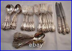 Tiger Lily- Festivity silver plate Reed & Barton No mono's. 49 pieces