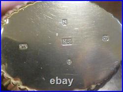VGC BOXED Hallmarked 1880 HEAVY 540gms SOLID SILVER BACHELOR 3 piece TEA SET