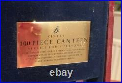 Viners 100 Piece Canteen Set Guild Silver Collection pre owned but unused