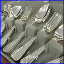 Viners 58 Piece Silver Plated Cutlery Set Canteen In Tradition Bead Style GSP