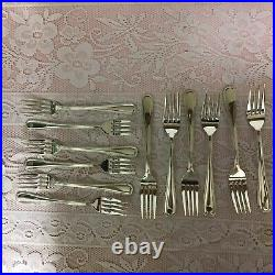 Viners Silver Bead Plated 44 Piece Cutlery Set, Beaded Handles, Stainless Blades