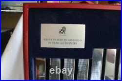 Viners Silver Plated 100 Piece Tudor Canteen Of Cutlery