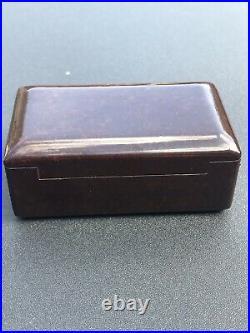 Vintage 1930s Gillette No 77 Silver Plated Two Piece Razor Bakelite Case Set