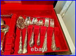 Vintage 1968 Towle Sterling Silver-Plated Set 71 Pieces with Rare, Large Case