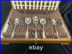 Vintage 46 Piece Canteen Cutlery by Fattorini & Sons and Cobb & Co Ltd Art Deco
