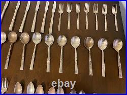 Vintage 81 Piece Set Silverplate Morning Star Community Oneida Silverware