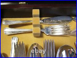 Vintage Arthur Price 56 Piece 25 Year Guarantee Silver Plated Cased Cutlery Set