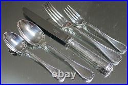Vintage CHRISTOFLE MALMAISON Silver-Plated 5 PIECE Place Setting MINT