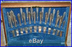 Vintage Community Silverware 83 Piece Set -Georgian Pattern Silverplate