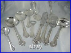 Vintage Danish Hellas Silver Plate Cutlery Set 6 person 59 pieces