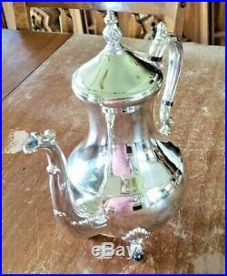 Vintage F. B. Rogers Silver Co. 1883 Silverplate 5- Piece Coffee/tea Service Set