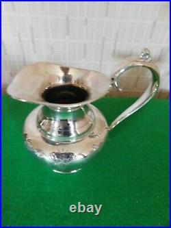 Vintage James Dixon EPBM Four Piece Tea Set On A Clark Co Tray