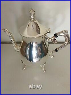 Vintage Leonard Silver Company 5 Piece Coffee and Tea Service Set Silver plate
