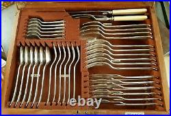 Vintage Maple & Co Canteen of Silver Plate Cutlery 54 Pieces
