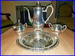 Vintage ONEIDA Silver plate 4-Piece Coffee/Tea Service Set