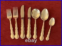 Vintage Oneida Flirtation pattern silver plated canteen of 44 pieces