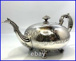 Vintage Reed & Barton Pattern 3765 Silver Plated 3 Piece Tea set Polished EUC