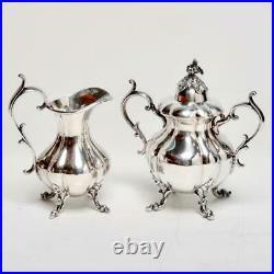 Vintage Reed & Barton Winthrop Silver Plate 4 Piece Tea/coffee Service #1795