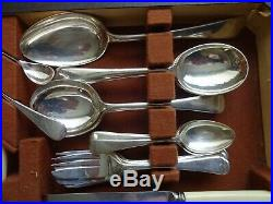 Vintage Silver Plated EPNS 69 Piece Cutlery Set Canteen for 6 Places SSP&C Co