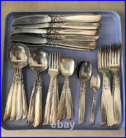 Vintage Silver Plated Part Cutlery Set Of 44 Pieces Community