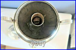 Vintage Silver Plated Tea Press Urn Beautiful, includes rare press piece