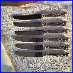 Vintage Smith Seymour 48 Piece Kings Pattern Silver Plate Culery Set, Wood Cased