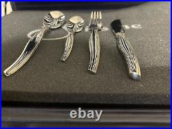Vintage Suissine 83 piece silver gold plated cutlery set
