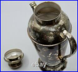 Vintage silver plate 3 piece large Cocktail Martini Shaker party size
