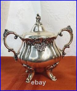 Wallace Baroque Tea Coffee Service 4 Piece Set Silverplate