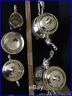 Wilcox Silverplate Coffee &Tea Service Set, Sugar, creamer, waste bowl. 5 pieces