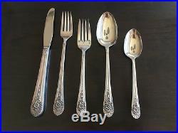 Wm Rogers Silver plate Jubilee Flatware for 8 Service Set 50 pieces plus bonus