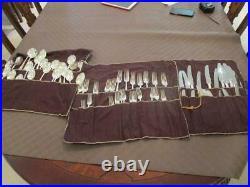 X72 Piece Vintage Maslin Super Silverplate Cutlery Set Epns Sheffield